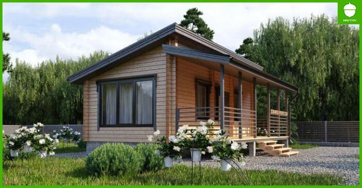 Самые простые проекты дачных домиков для 6-ти соток