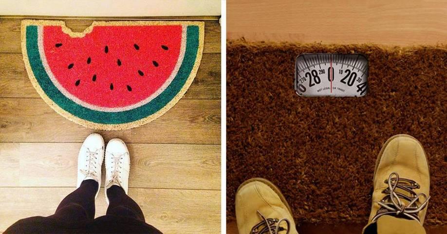 28 креативных ковриков, которые как ничто отражают характер хозяев дома
