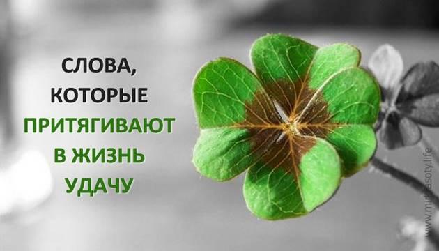 Слова удачи