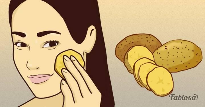 Она натирала лицо кусочком сырого картофеля каждый день на ночь. Не знала, что это дает такой эффект!