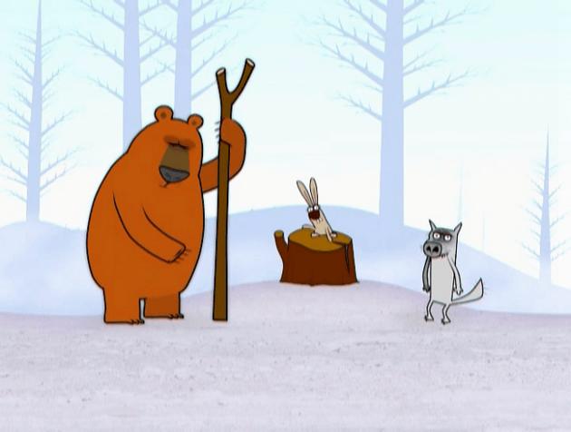 Идёт Волк по лесу, видит — Заяц без ушей.