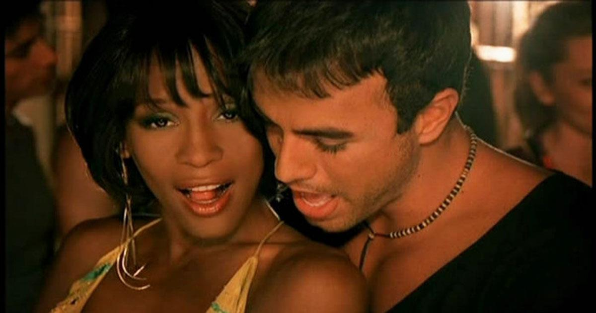 Потрясающий дуэт! Уитни Хьюстон и Энрике Иглесиас — «Could I Have This Kiss Forever»