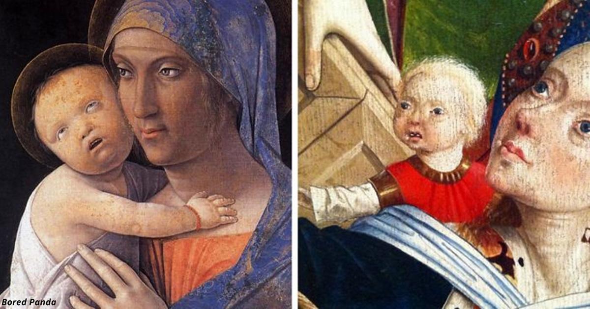 Кто то собрал всех ″стремных″ младенцев на картинах эпохи Возрождения. И это капец!