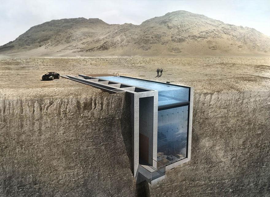 Спрятанный в скале дом с удивительно страшным видом на море!