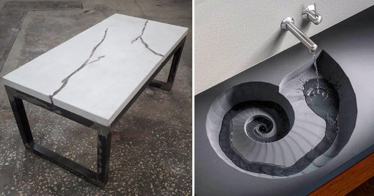 Крутые штуки из бетона и... ничего лишнего