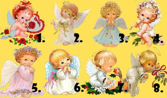 Выберите понравившегося ангелочка и получите предсказание.