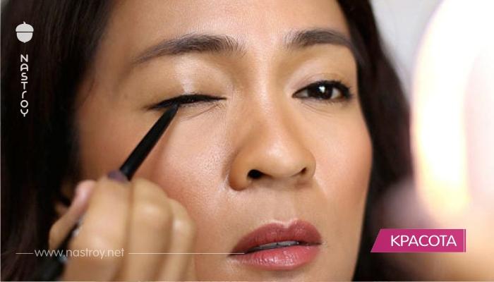 12 фантастических хитростей макияжа для нависших век! Попробуйте!