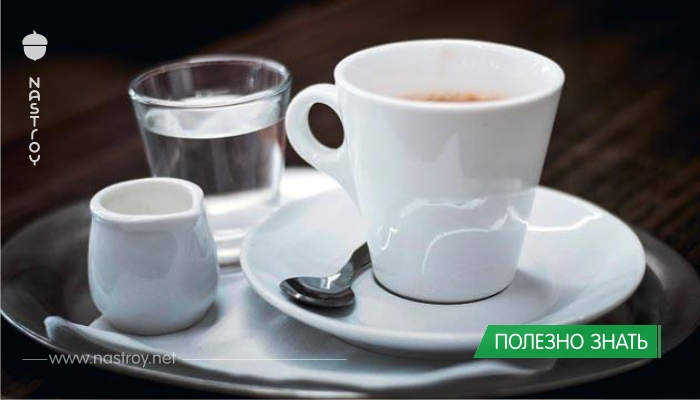 Почему кофе обязательно надо запивать водой