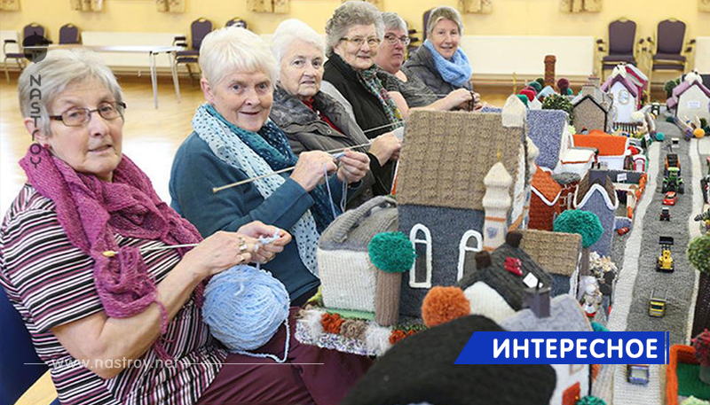 Пенсионеры связали модель своей деревни