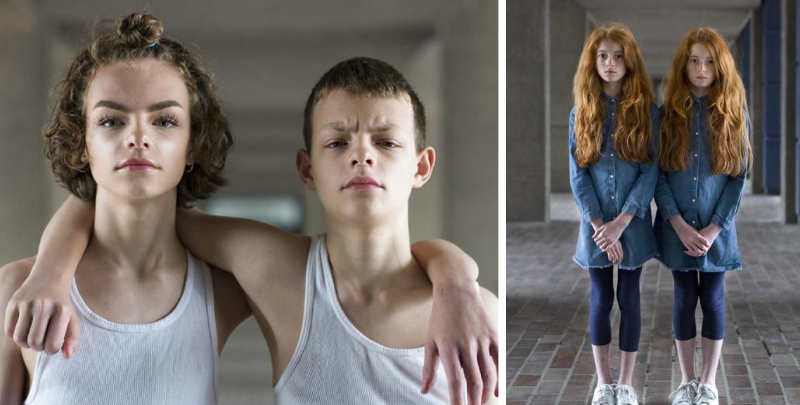 Портреты идентичных близнецов показывают, насколько они отличаются!