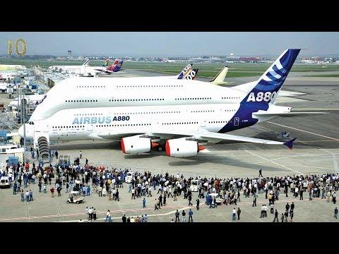Самые большие самолёты в мире ТОП 10 АН ТУ Airbus Boeing Lockheed The largest airplanes in the world
