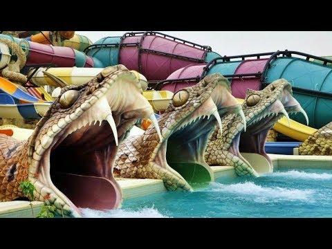 Самые крутые Аквапарки мира Невероятные Яркие Необычные Большие ТОП 10 Water Park Экстрим