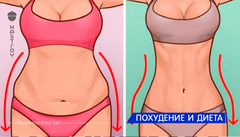 Простые упражнения для сжигания жира в области живота и боков!