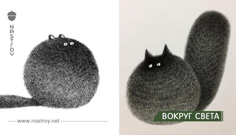 Малазийский художник рисует пушистых котов, используя только ручку, – и результат прекрасен!