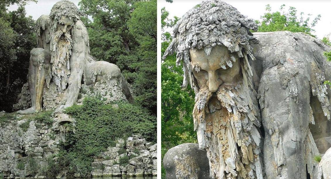 Гигантская скульптура «Колосс» 16 го века во Флоренции, Италия!