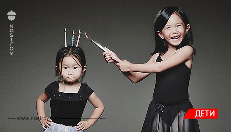 Творческий папа делает очень крутые снимки своих дочек!