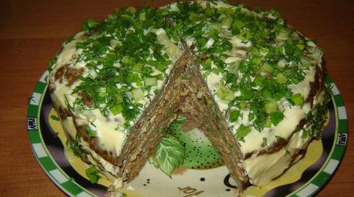 Печеночный торт. Самый вкусный вариант приготовления!