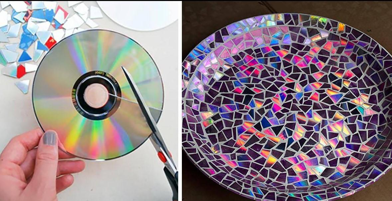 21+ блестящих идей по утилизации старых компакт-дисков!