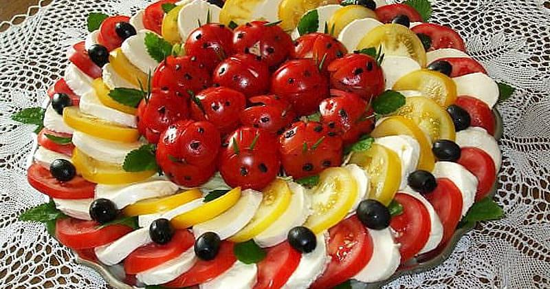 Топ-30 идей красивого оформления рыбных и мясных нарезок, овощей, фруктов, и сыров!