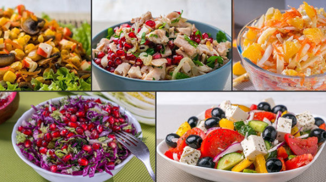 Готовлю 5 салатов, и все без майонеза. (Рецепты + ВИДЕО)