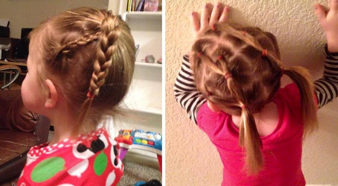 Этот отец-одиночка научился делать причёски своей маленькой дочке и теперь обучает этому других пап!