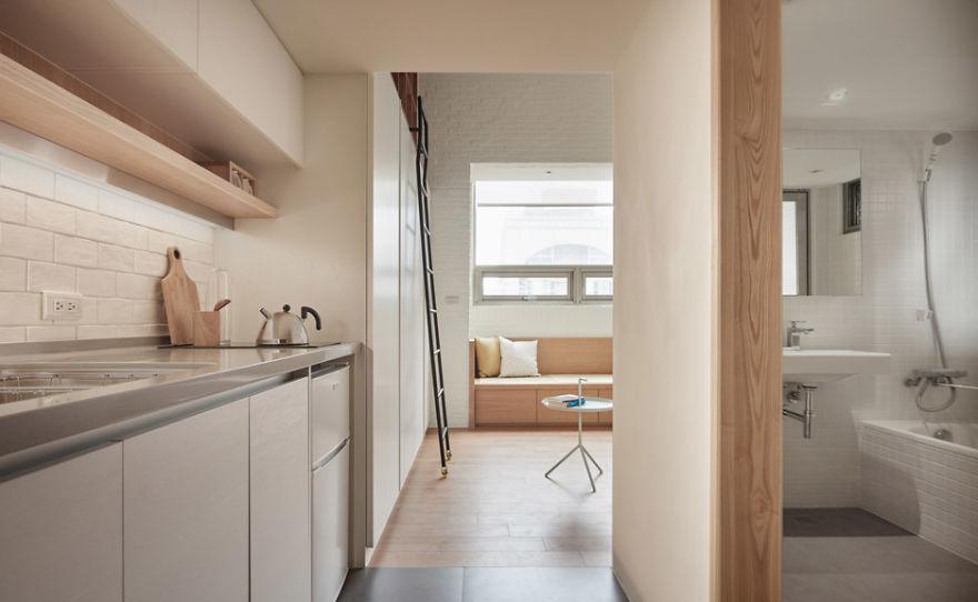 Люди не могут поверить, что эта квартира составляет всего 22 квадратных метра, увидев эти фото!  Поделиться на Facebook