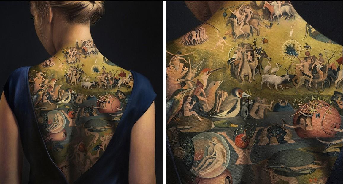 Кажется, что это потрясающая татуировка на спине женщины, но это не то, чем кажется!