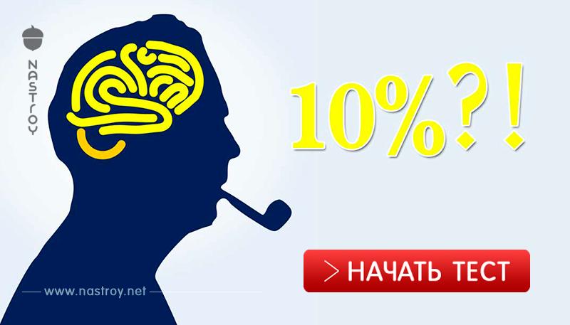 Большинство людей используют только 10% своего мозга! Какой процент у вас?