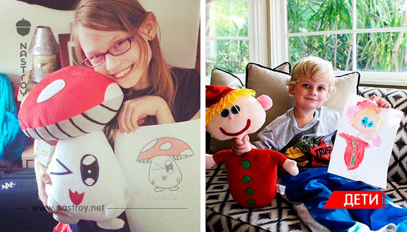 Эти ребята превращают детские рисунки в плюшевые игрушки!