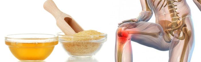 Желатин при боли в суставах после операции на коленный сустав температура