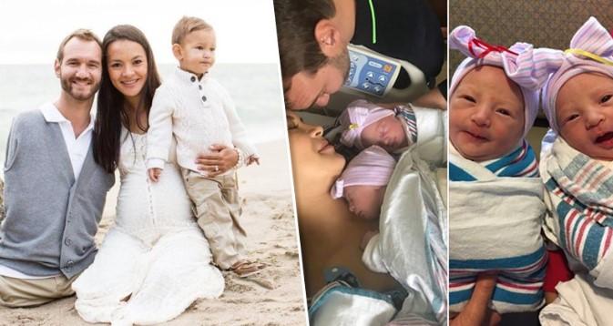 Многодетный папа: Ник Вуйчич стал снова отцом, на этот раз — близняшек!