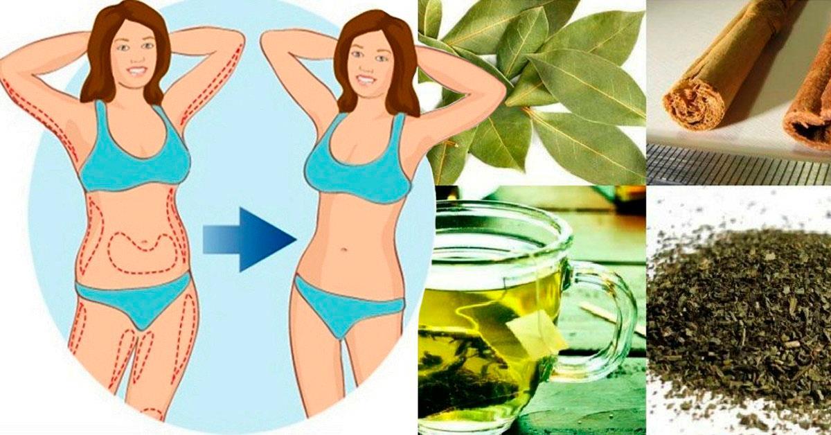 Чай из 4 ингредиентов 7 дней и моя талия стала на 8 см тоньше, а вес на 2 кг меньше!