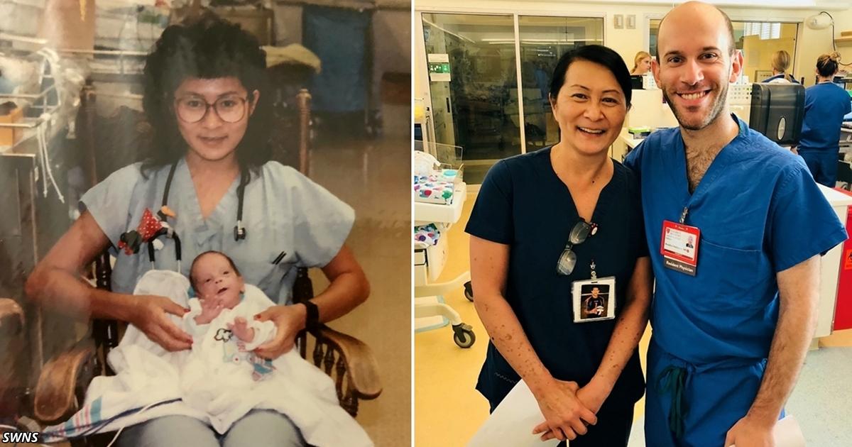 Медсестра узнала в своём коллеге малыша, которого спасла 28 лет назад!
