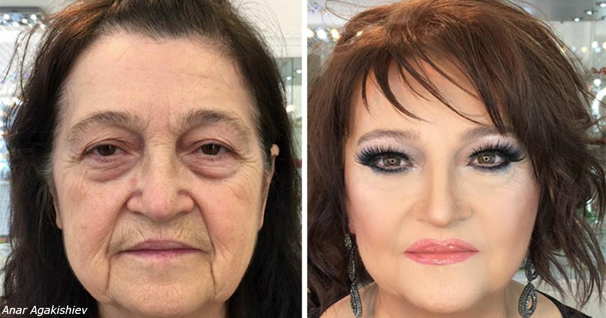 Визажист доказал, что 80 летние женщины могут выглядеть в 2 раза моложе