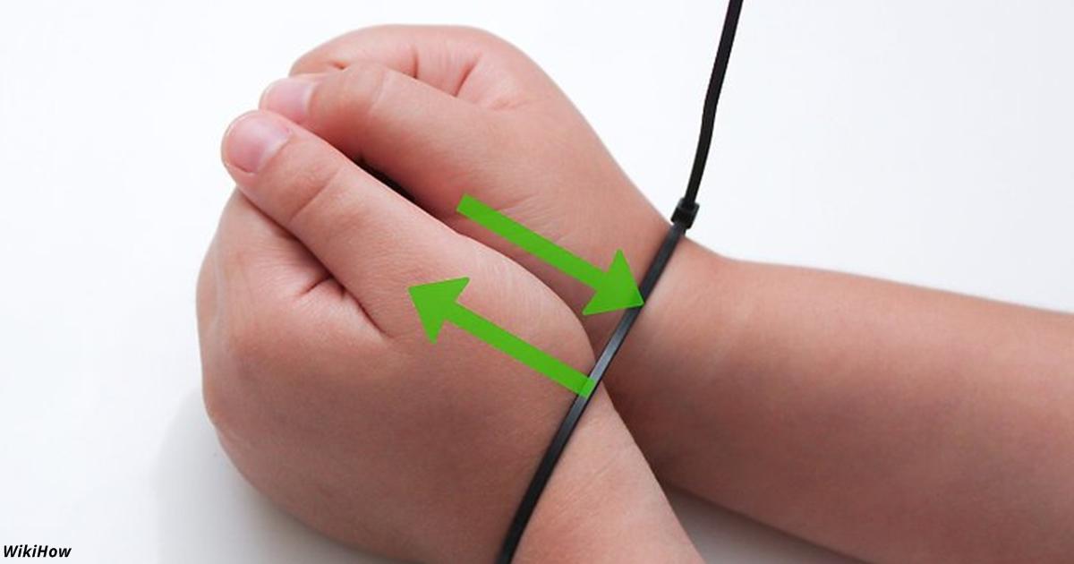 Если вам связали руки пластиковым жгутом, вот как из него вырваться