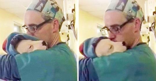 Испуганный щенок не мог перестать плакать, но только посмотрите, что сделал этот мужчина!