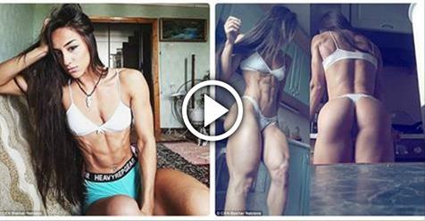 Сеть взорвала Мисс Железный Зад, которая выложила видео своих тренировок — вид сзади