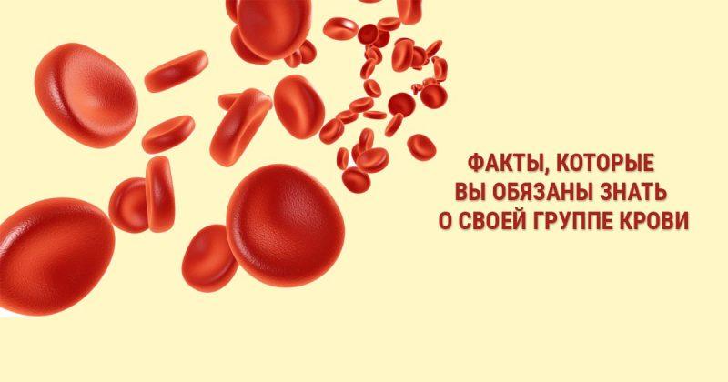 7 фактов, которые вы обязаны знать от своей группе крови