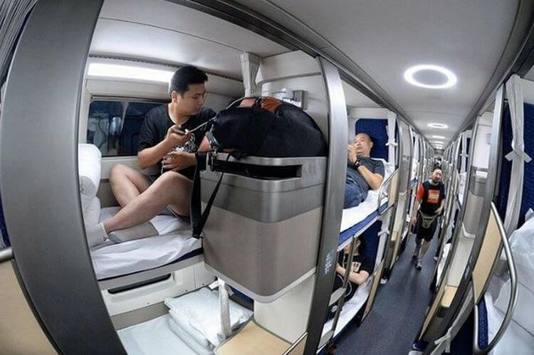Как выглядит китайский плацкартный вагон