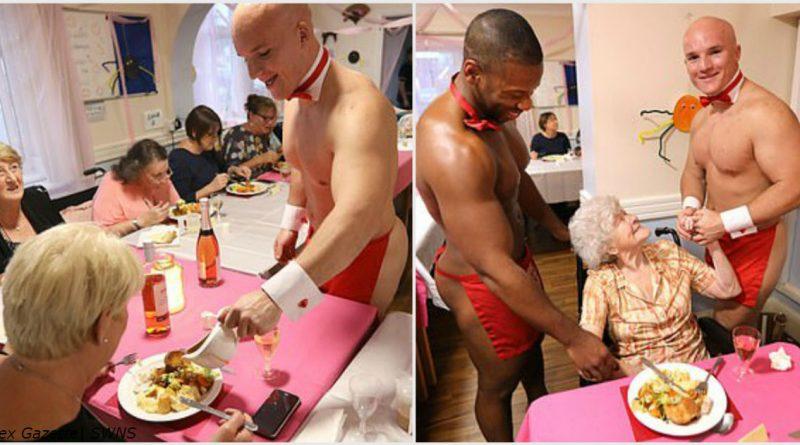 Женщин из дома престарелых поздравили голые качки-официанты! Вот как все было