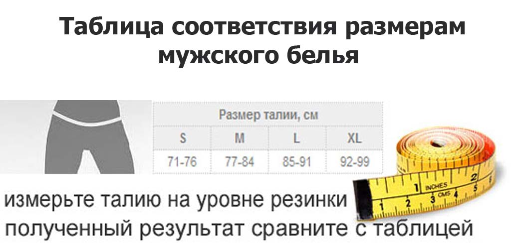 Размер нижнего белья. Таблица размеров для женщин и мужчин ce0eb30ca80