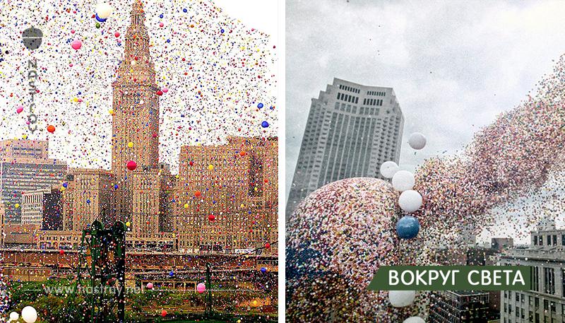 История запуска 1,5 миллиона воздушных шаров. Рекорд, обернувшийся катаклизмом