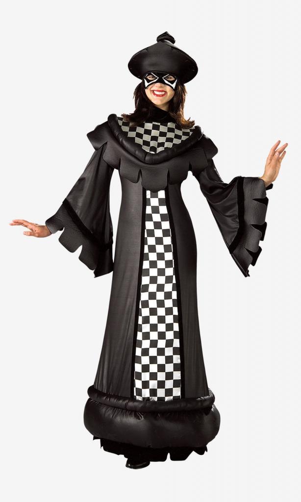 Костюм шахматной королевы для девочки своими руками 839