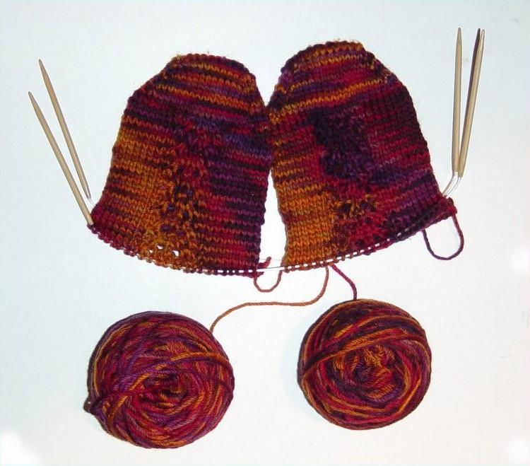 носки на 2 спицах самый простой способ вязания