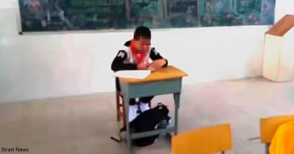 13 летний мальчик сидит в классе один:  у него рак, и учитель считает,  что он заразный