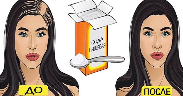 Простой способ использования соды для ускорения роста волос