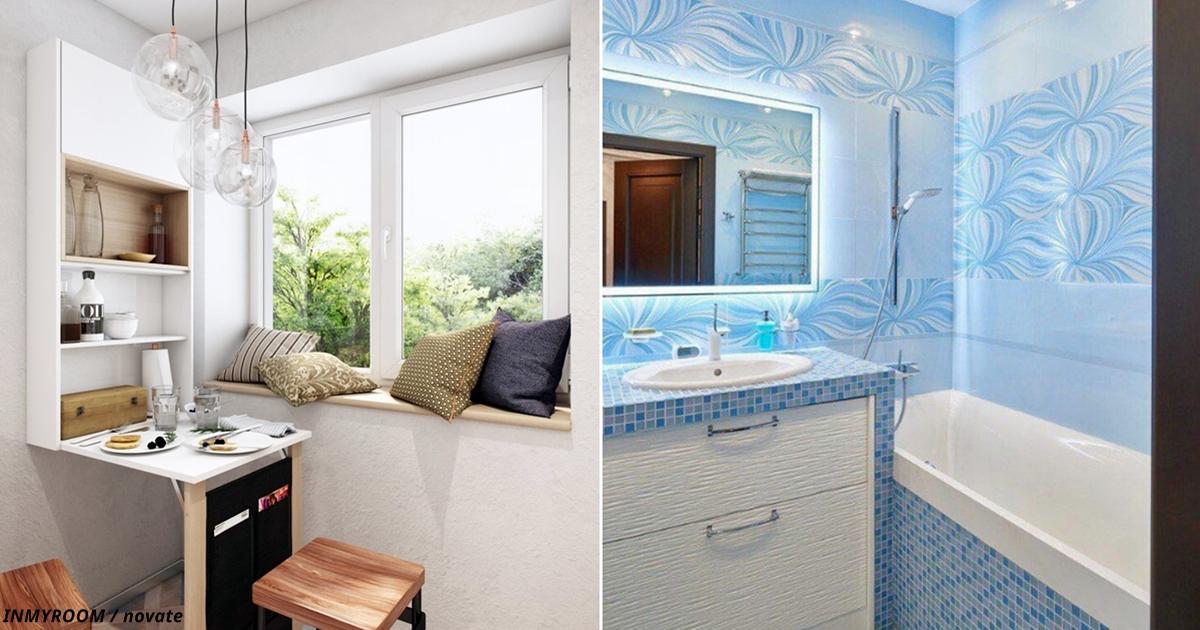 Беда хрущёвок — кухни и ванны. Вот роскошные идеи для ремонта тех и других