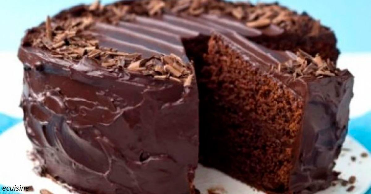 Вкуснющий влажный шоколадный торт, в котором нет ни одного яйца
