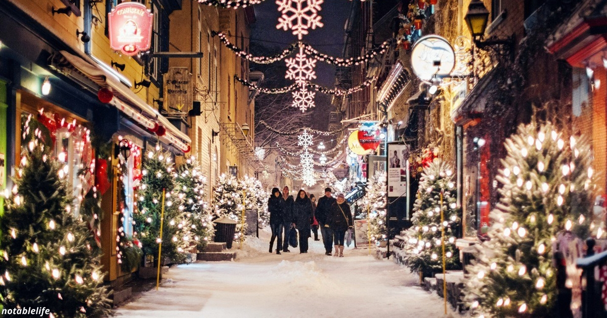 Смотрите, как в Канаде украшают улицы к Рождеству. Это просто бомба!