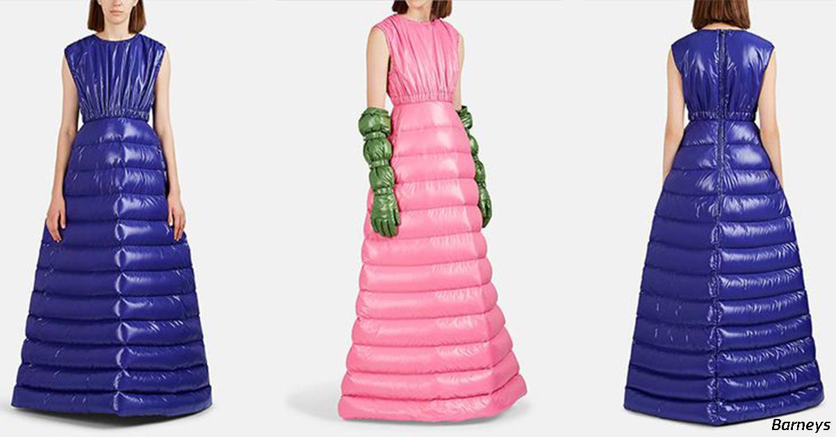 В мире сейчас мода на платья-пуховики! Вы только посмотрите...